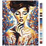 Malování podle čísel Divka v barve 2