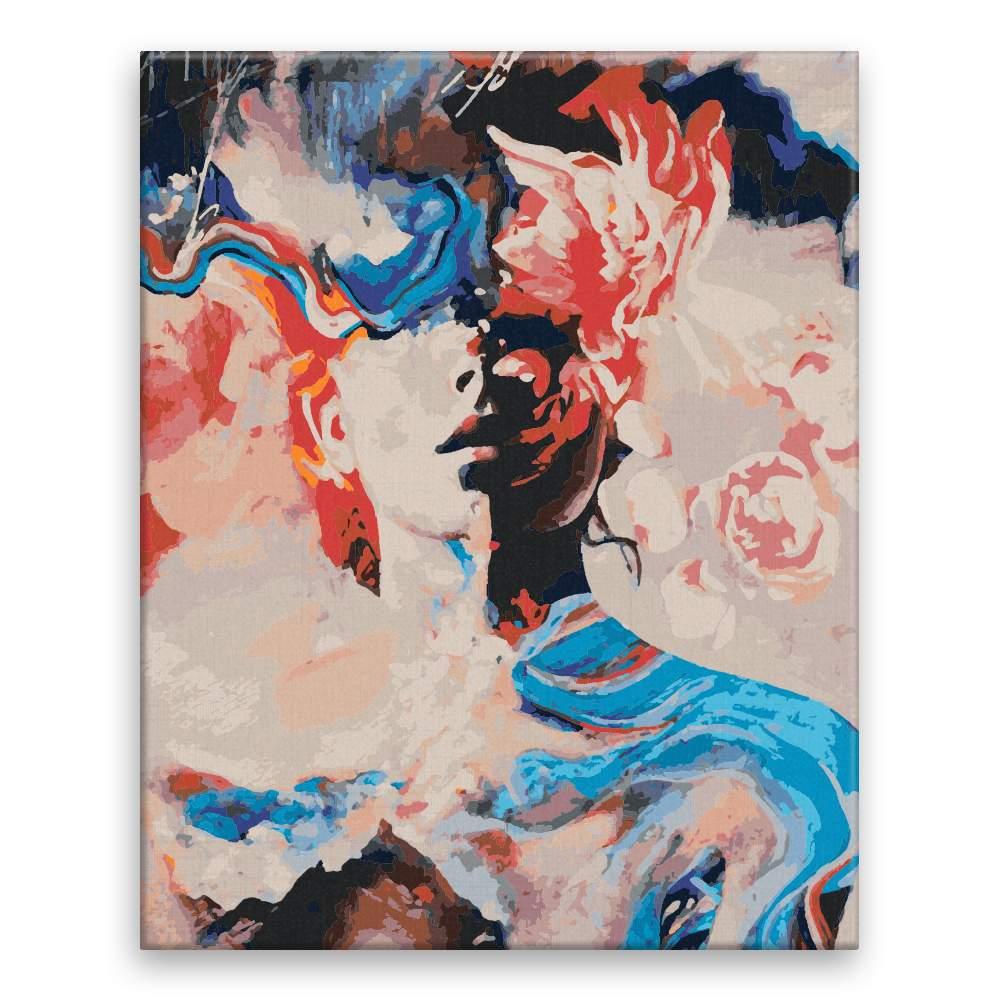 Malování podle čísel Barevná abstrakce