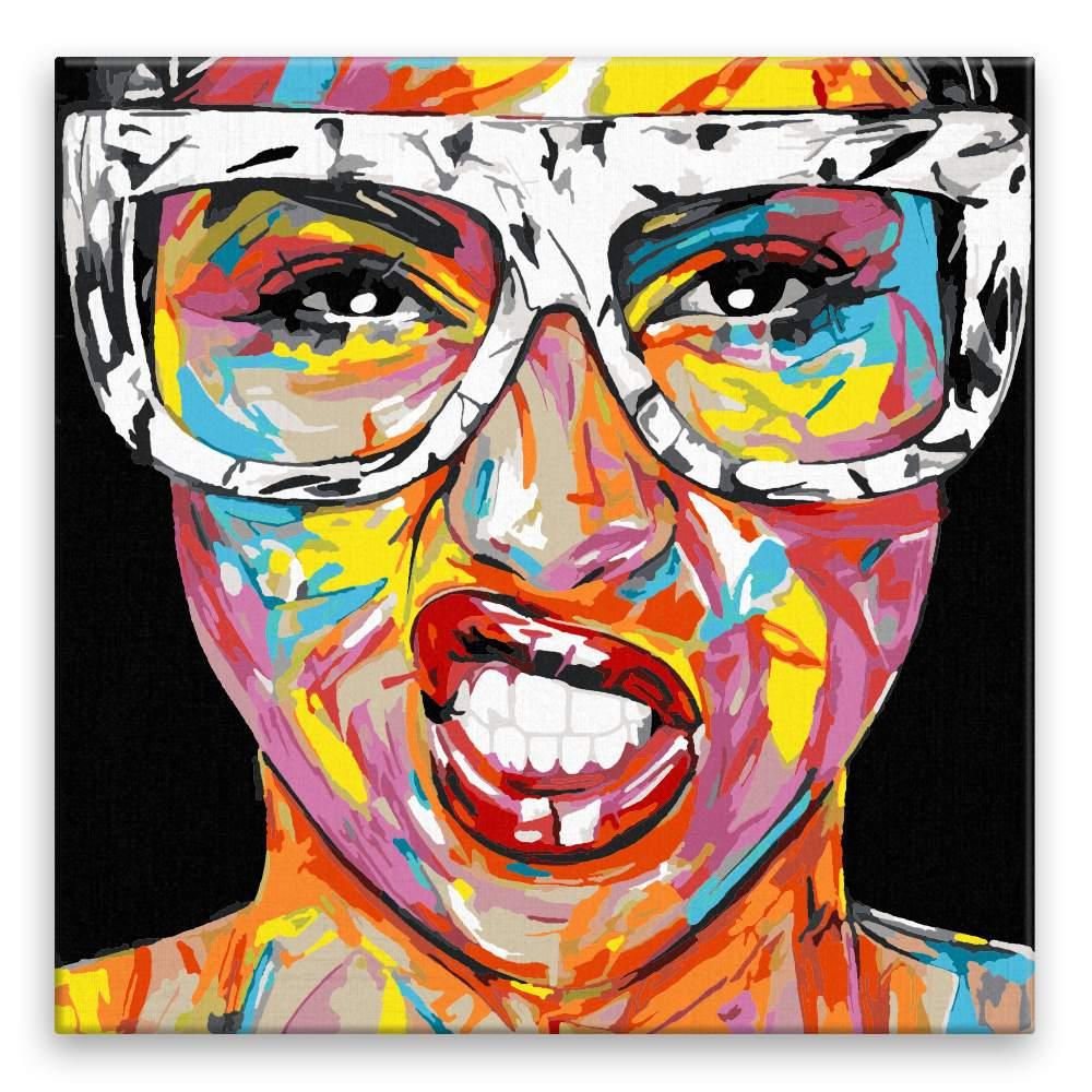 Malování podle čísel Dívka s brýlemi