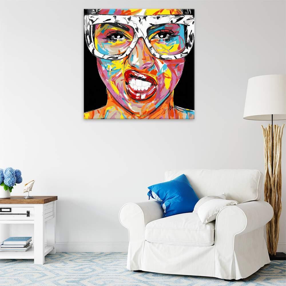 Obraz na zdi Dívka s brýlemi