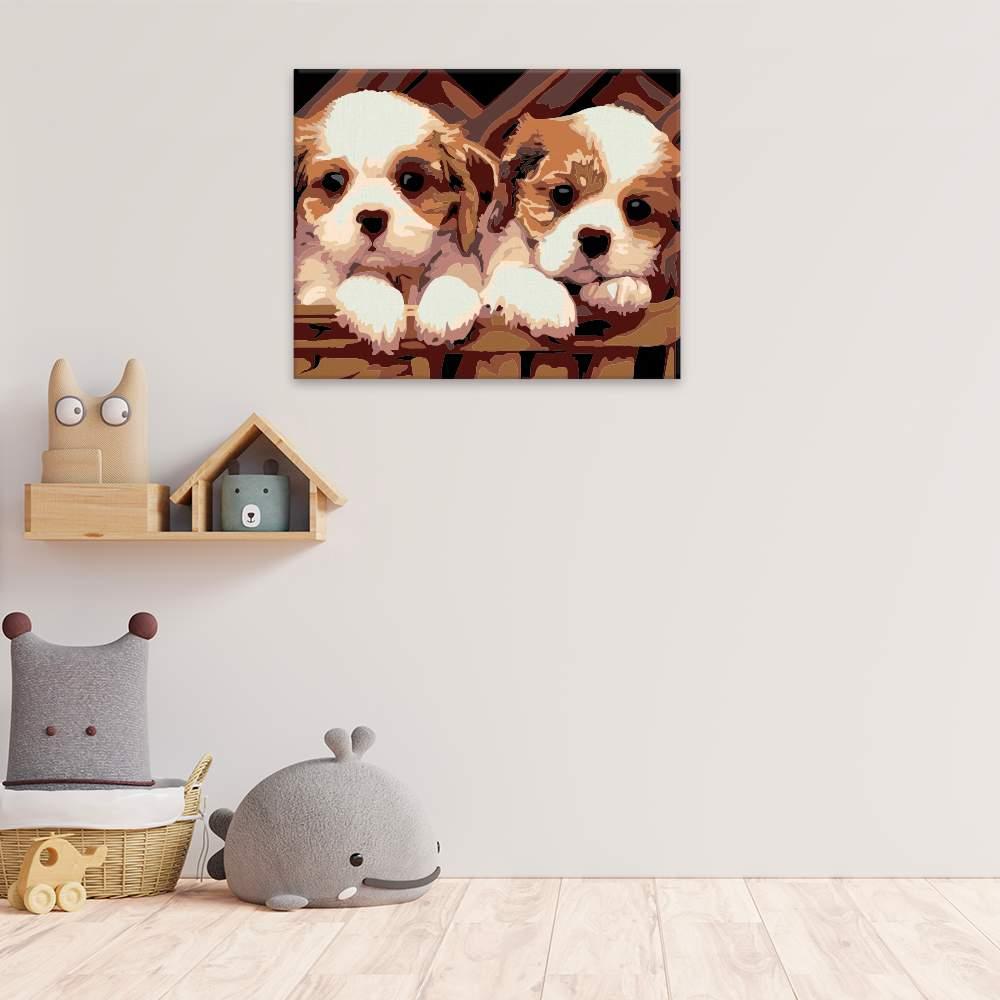 Obraz na zdi Dvě štěňátka