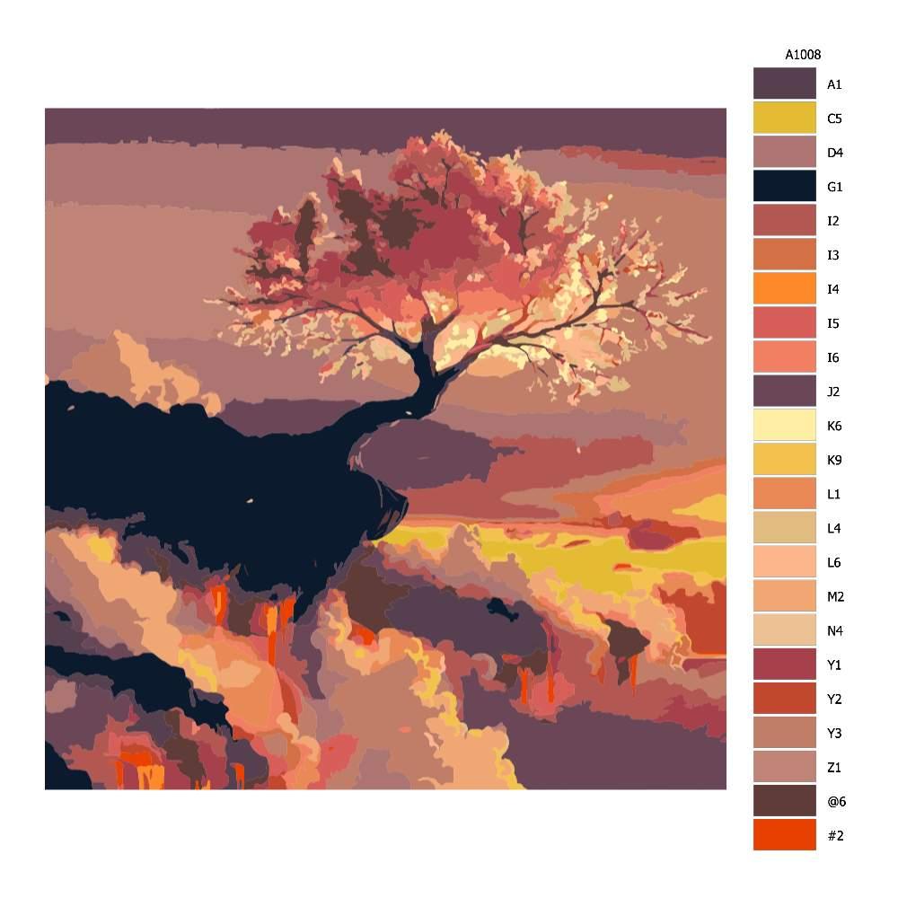 Návod pro malování podle čísel Kouzelná obloha