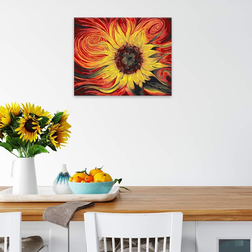 Obraz na zdi Žluto rudá slunečnice