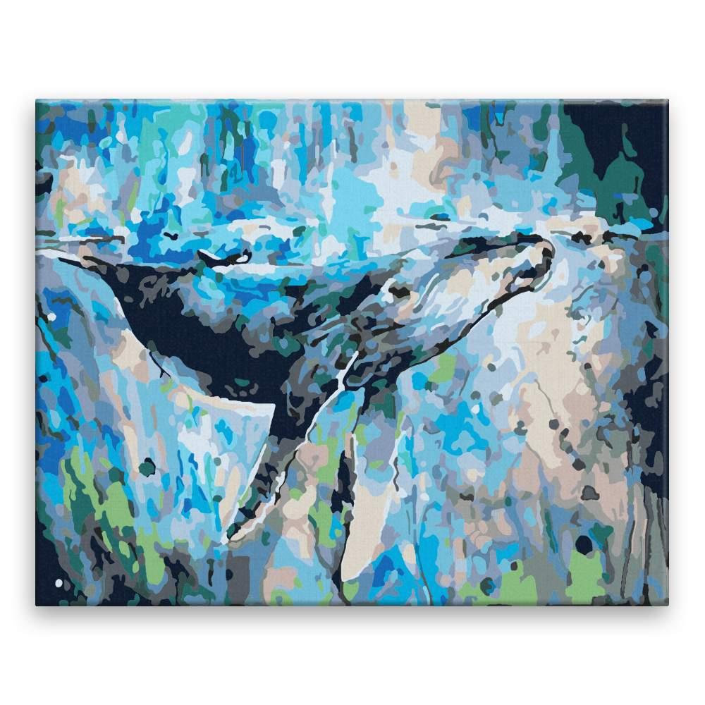 Malování podle čísel Velryba v moři
