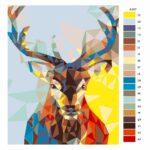 Malování podle čísel Pohled jelena