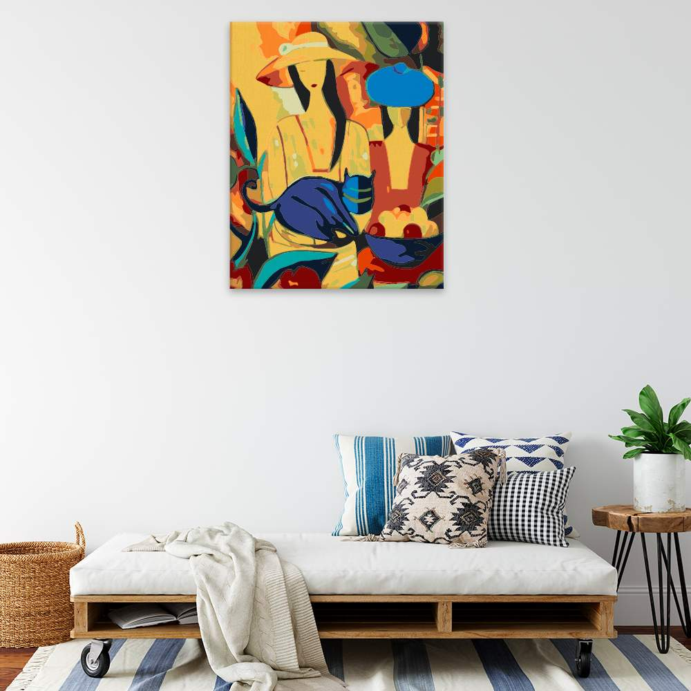 Obraz na zdi Pestrobarevné ženy