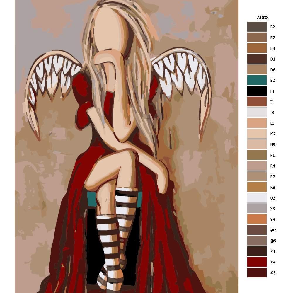 Návod pro malování podle čísel Anděl s ďáblem v těle