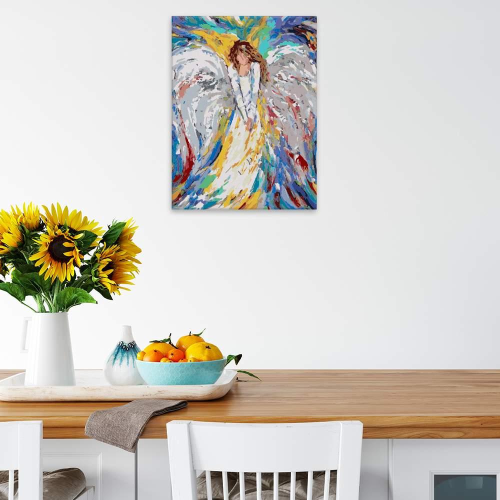 Obraz na zdi Anděl v barvách