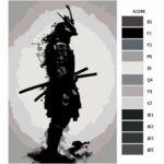 Malování podle čísel Ozbrojený samuraj
