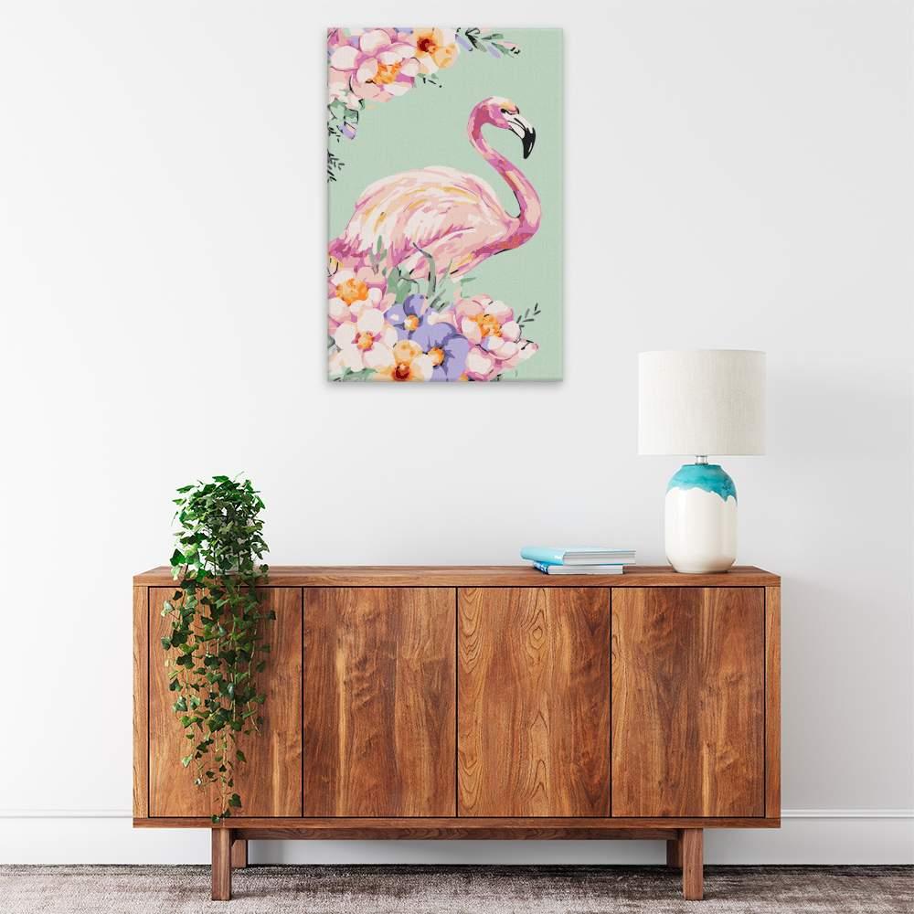 Obraz na zdi Plameňák v květech
