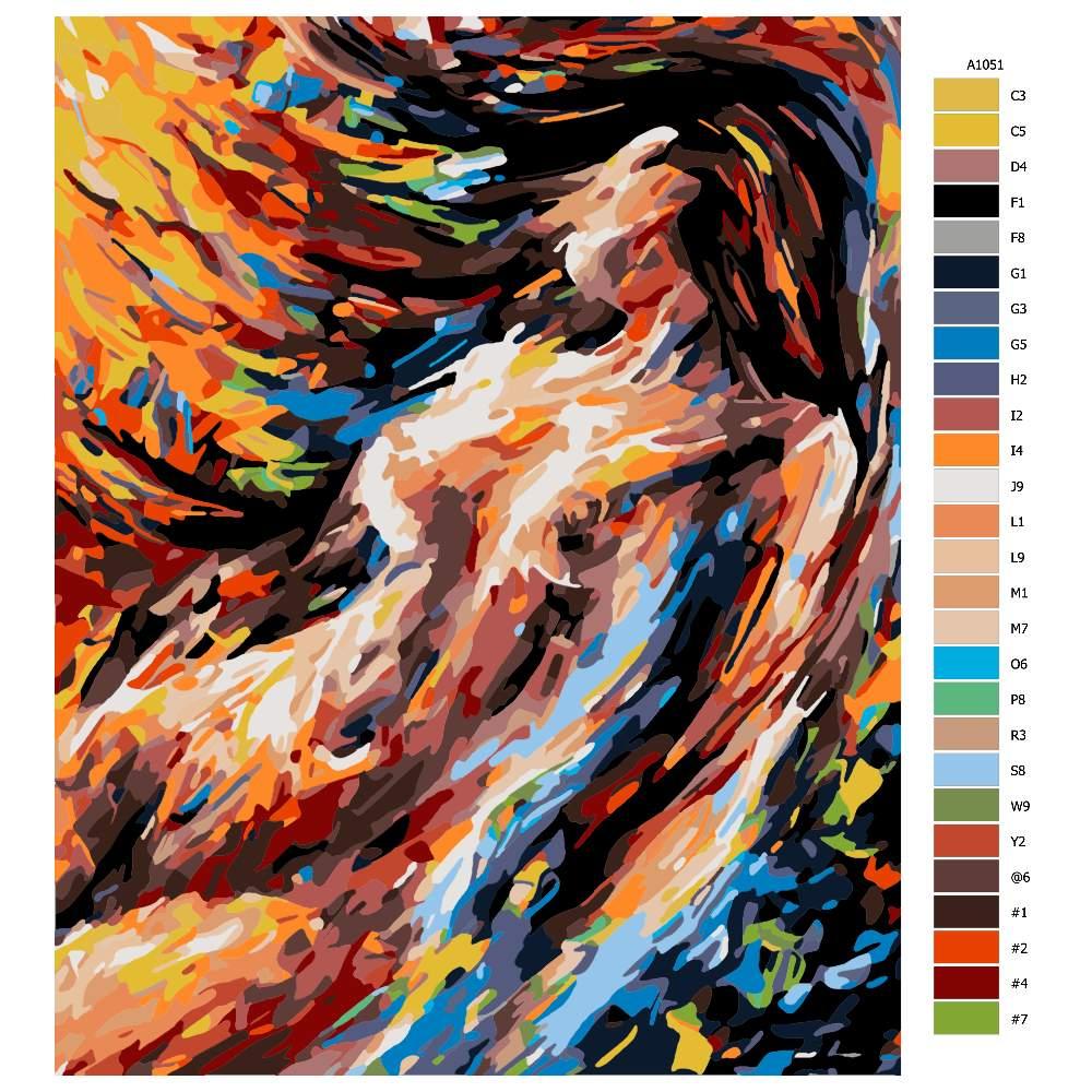 Návod pro malování podle čísel Žena akt