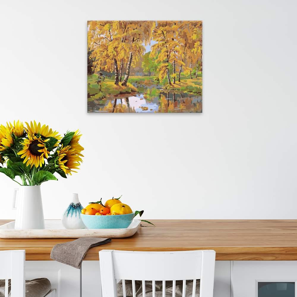 Obraz na zdi Podzimí jezírko
