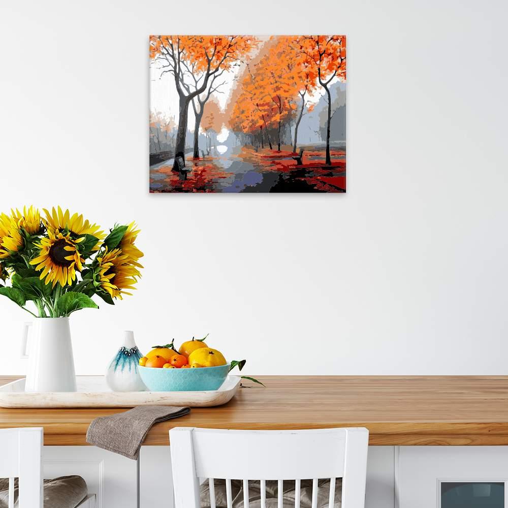 Obraz na zdi Podzim v ulicích