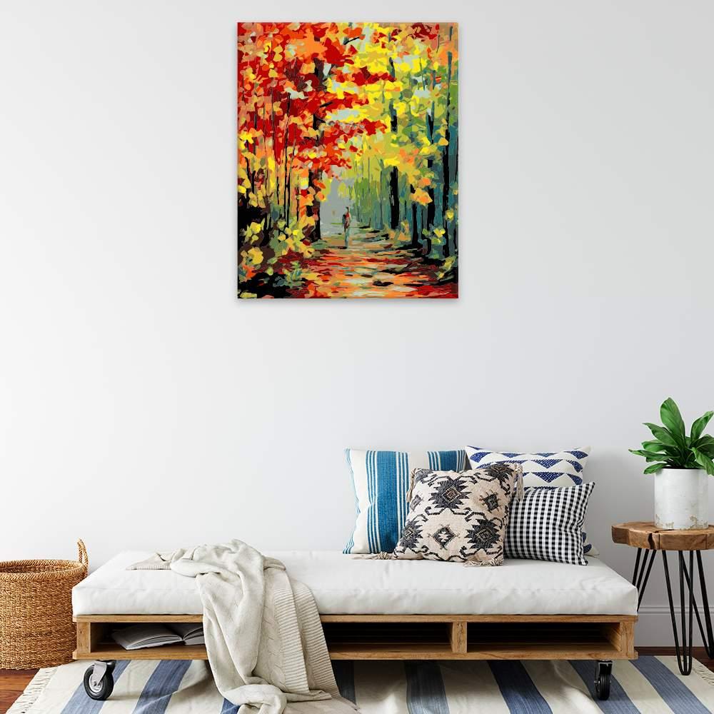 Obraz na zdi Podzimní alej