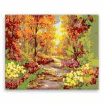 Malování podle čísel Podzimní park