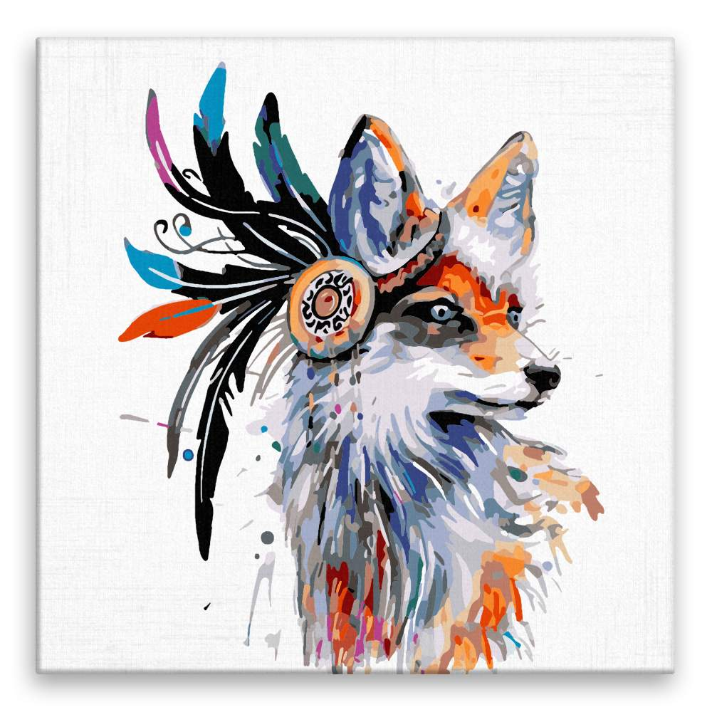 Malování podle čísel Liška s péry