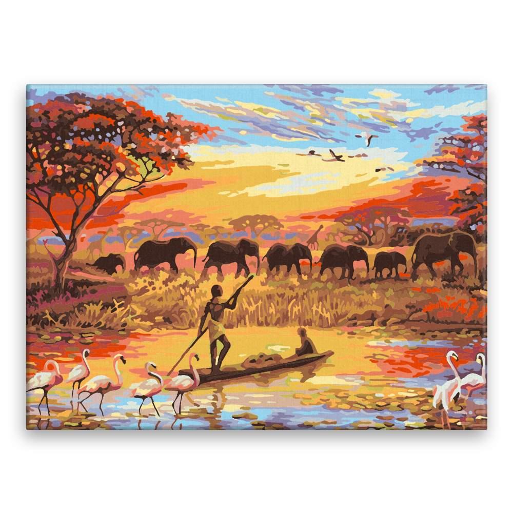 Malování podle čísel Afrika
