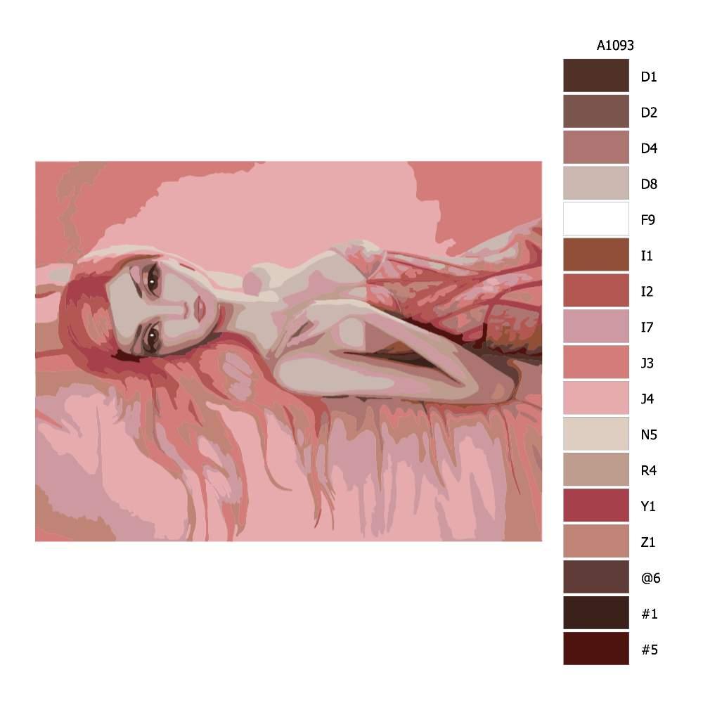 Návod pro malování podle čísel Růžová krása