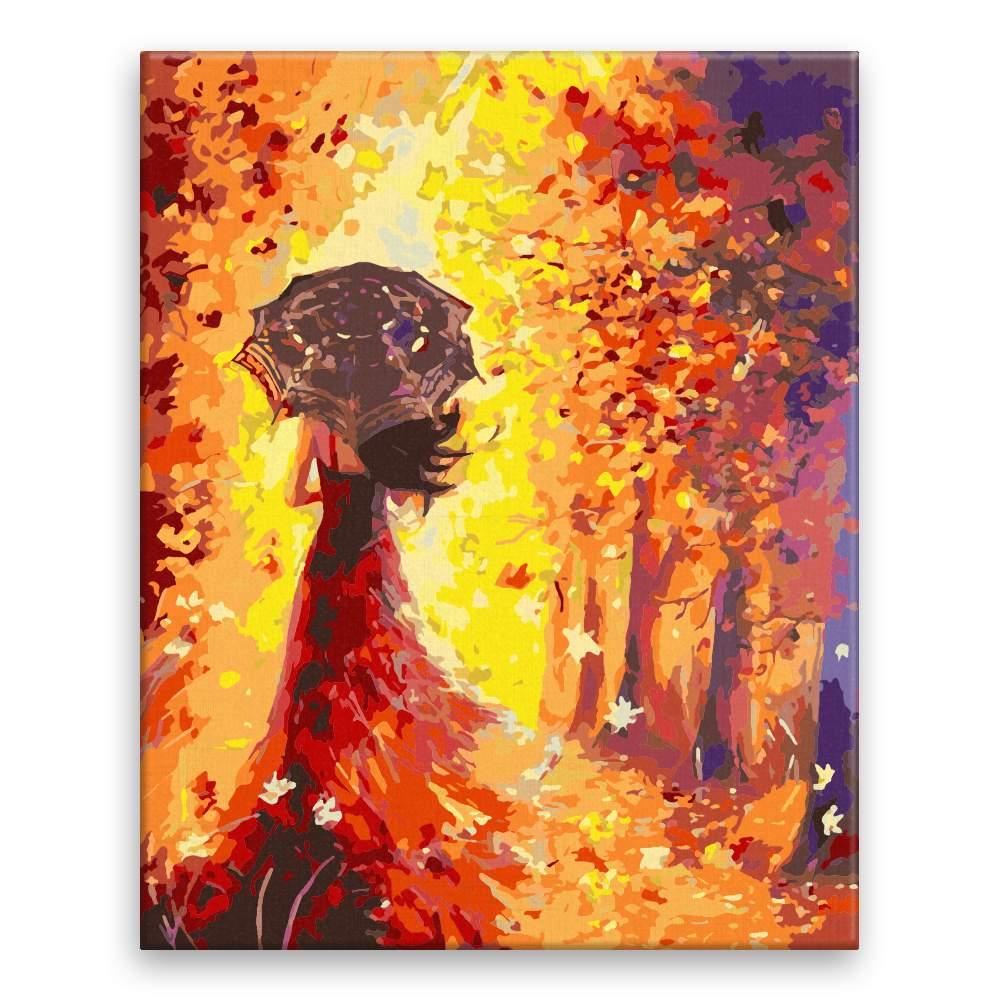 Malování podle čísel Žena na procházce