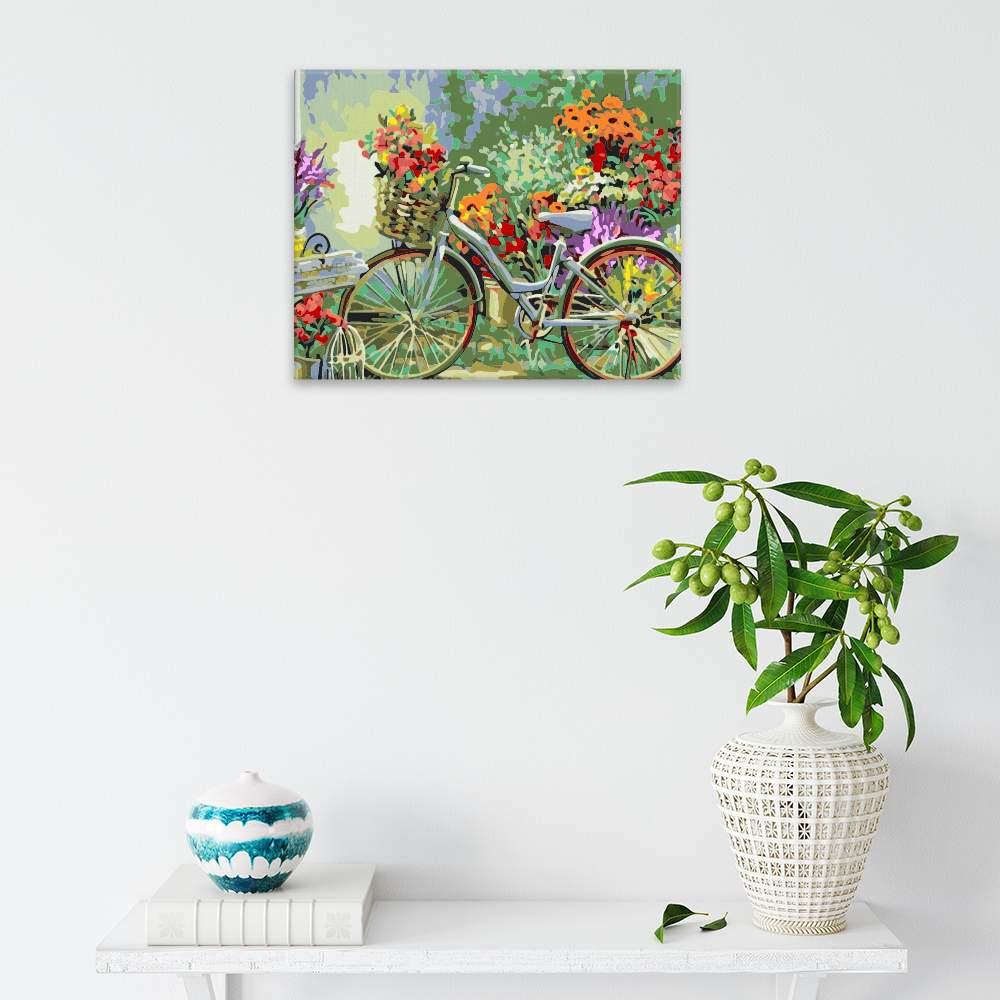 Malování podle čísel Kolo s květinami