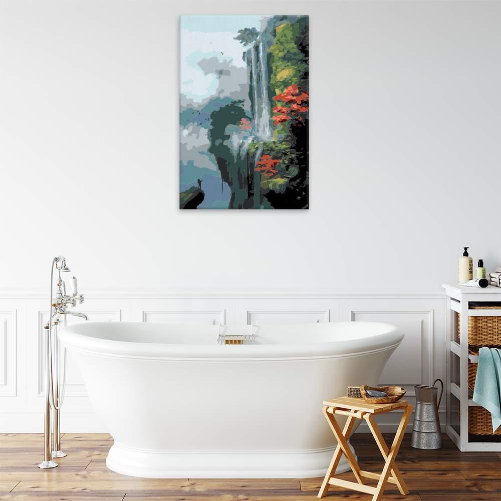 Malování podle čísel Vodopád v Japonsku