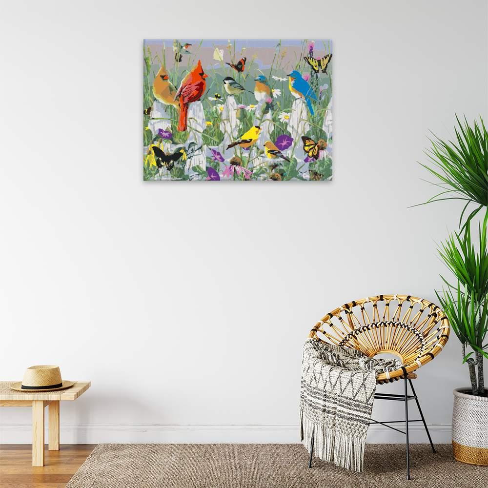 Malování podle čísel Polní život