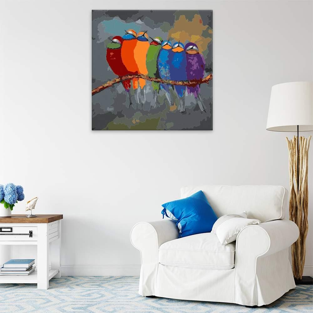Malování podle čísel Ptáci v barvách