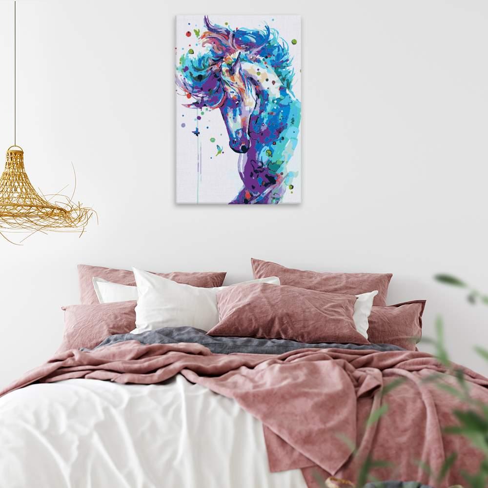 Malování podle čísel Hřebec v barvách