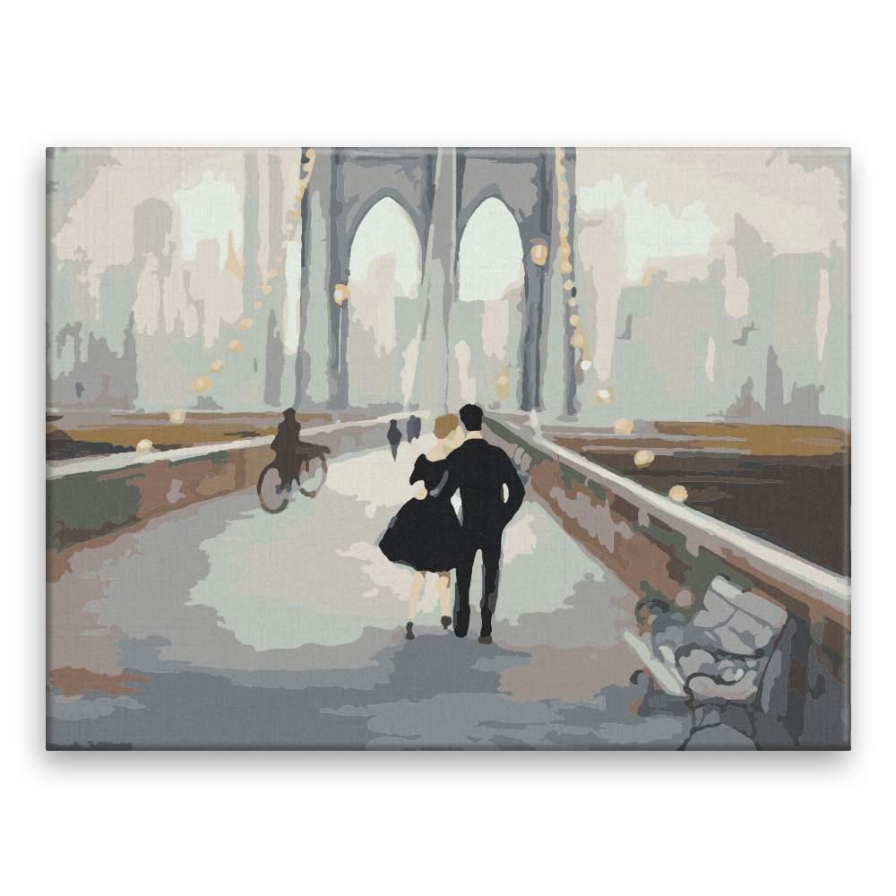 Malování podle čísel Most v New Yorku