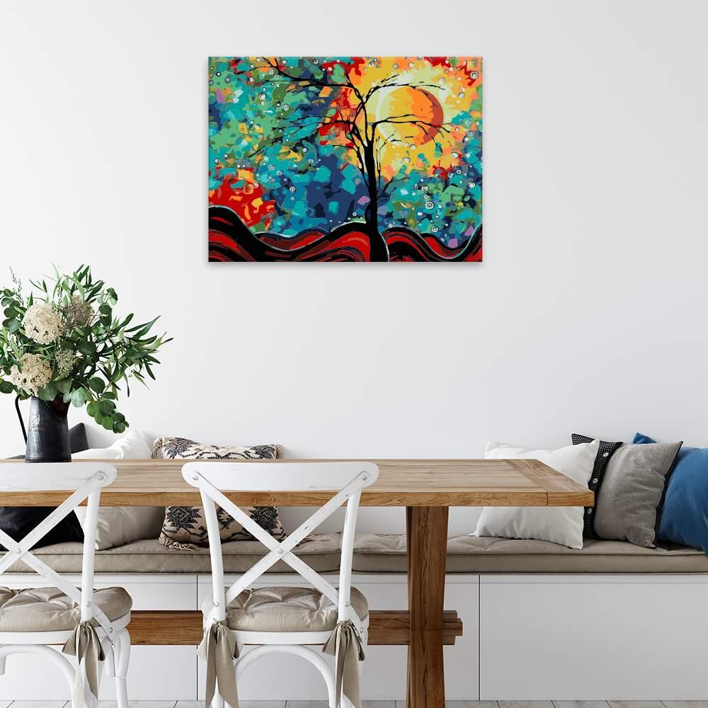 Malování podle čísel Pestrobarevná obloha