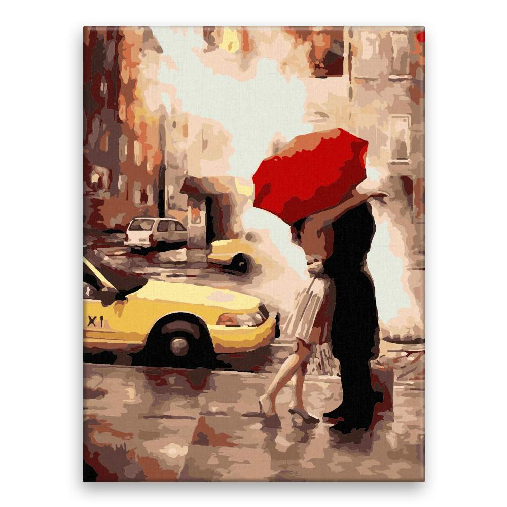 Malování podle čísel Láska pod deštníkem