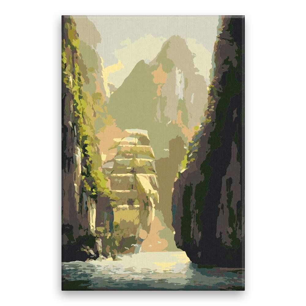 Malování podle čísel Loď v kaňonu