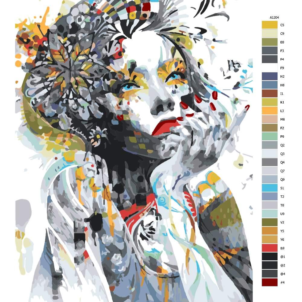 Návod pro malování podle čísel V zamyšlení