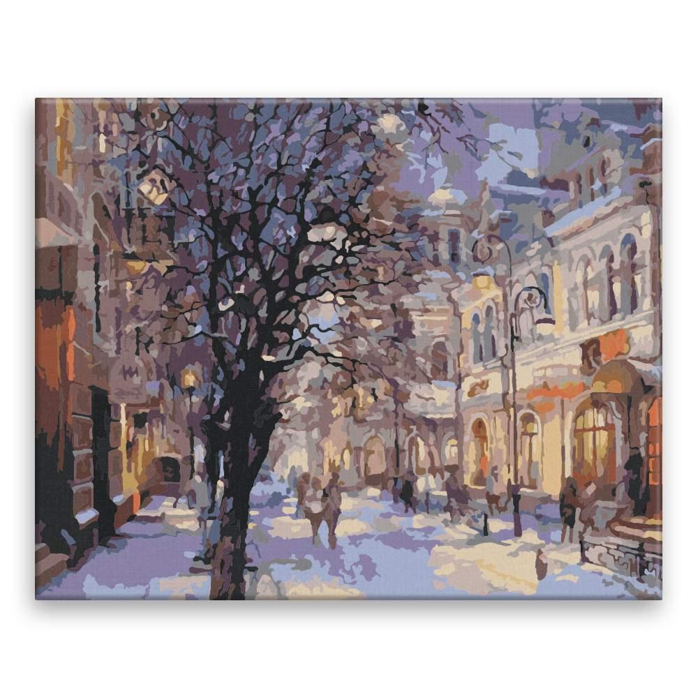 Malování podle čísel Město v zimě