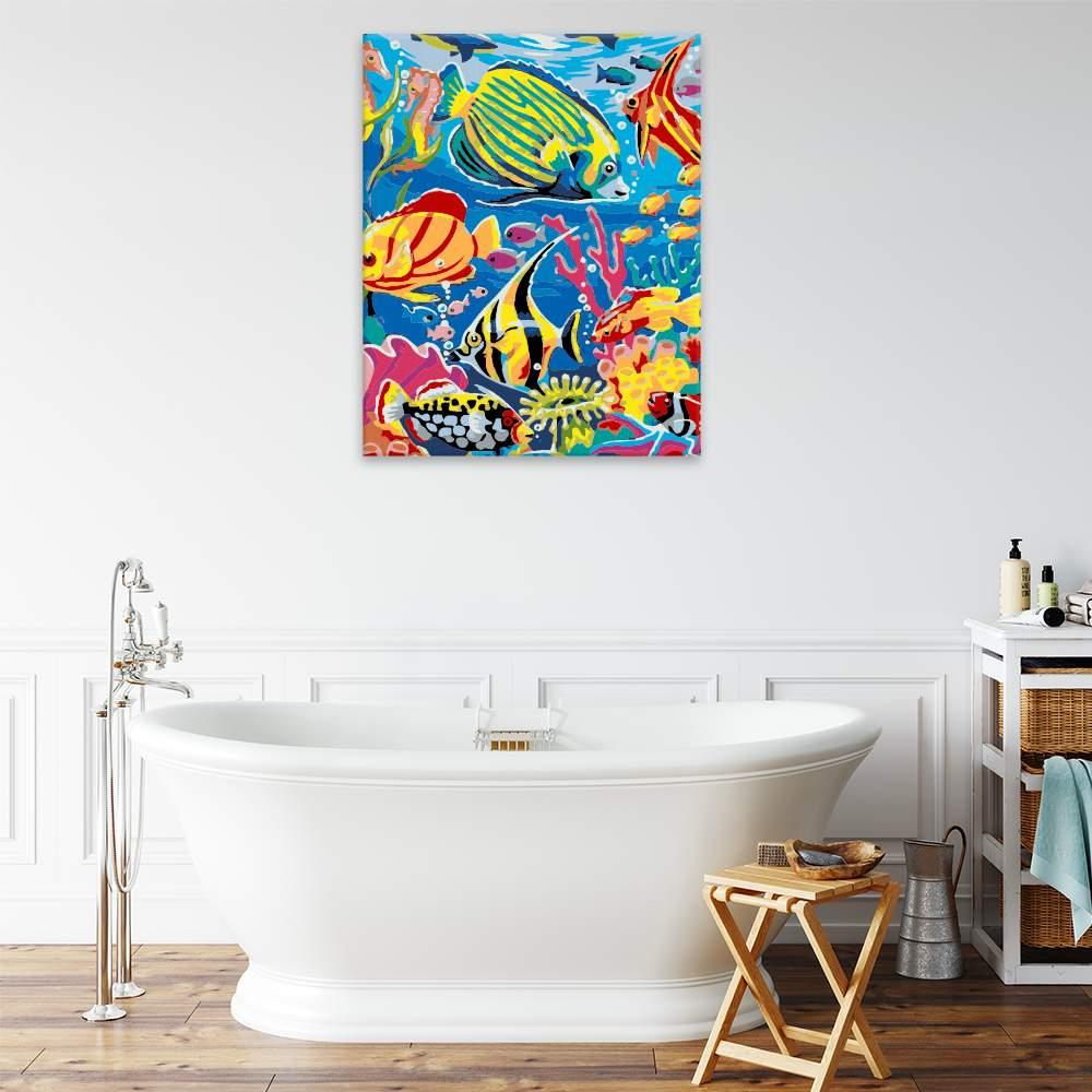 Malování podle čísel Mořský život v barvách