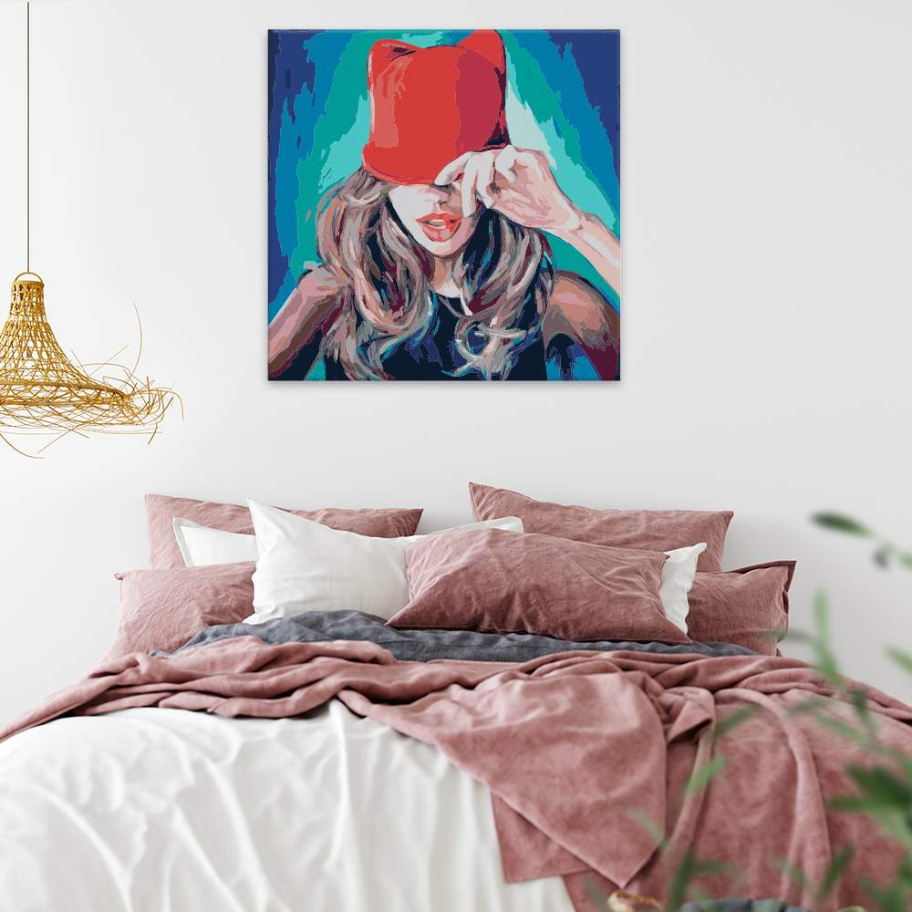 Malování podle čísel Dívka s čepicí