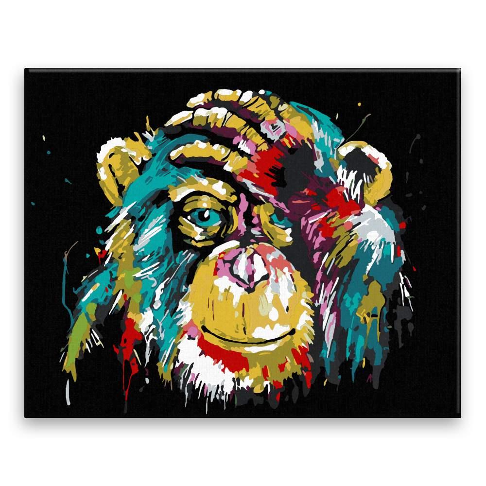 Malování podle čísel Čimp v barvách