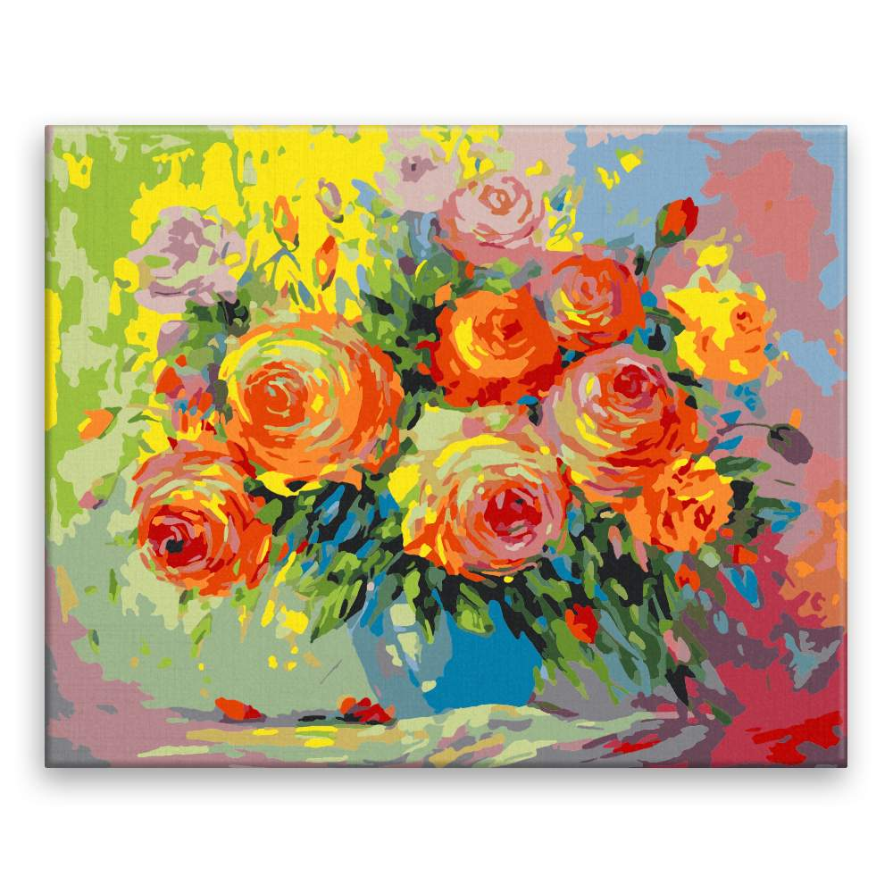 Malování podle čísel Podzimní květiny ve váze