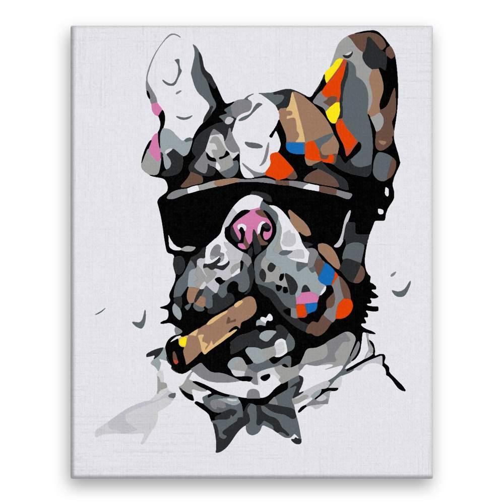 Malování podle čísel Pes mafián