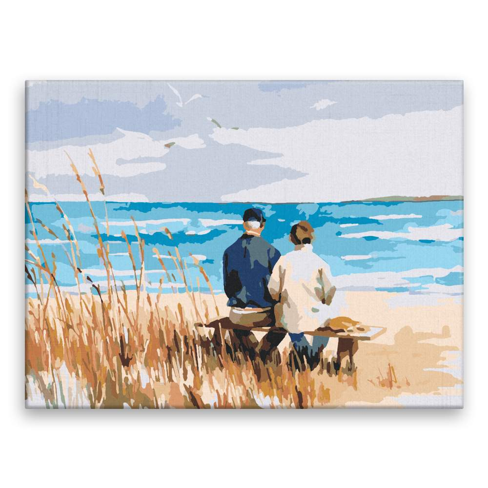 Malování podle čísel Pohled na moře ve dvou