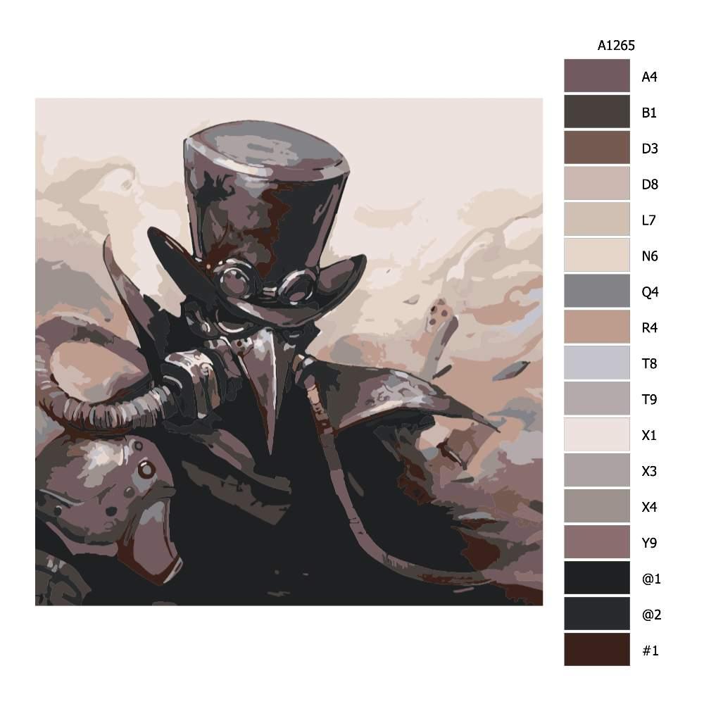 Návod pro malování podle čísel Vraní muž