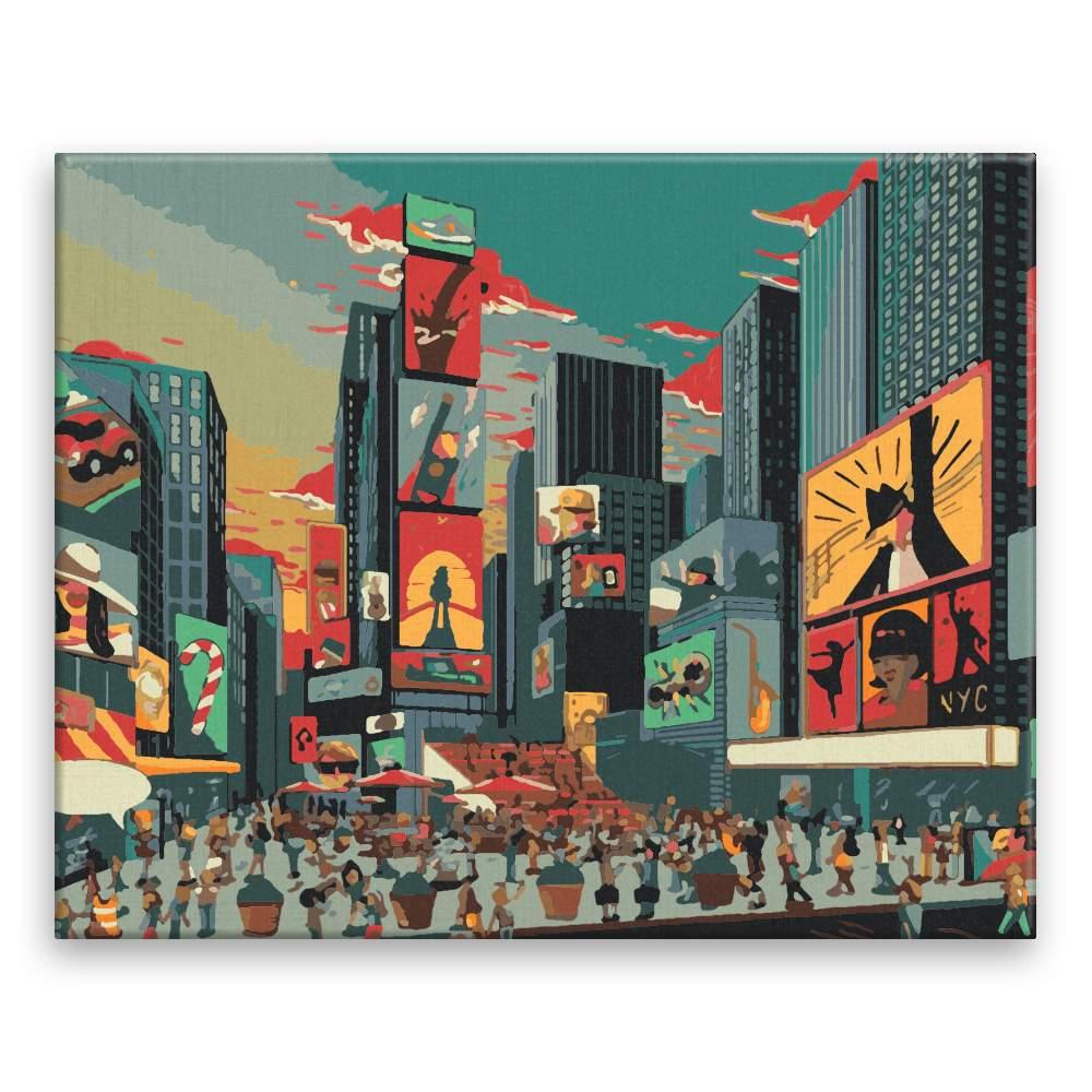 Malování podle čísel Náměstí v New Yorku