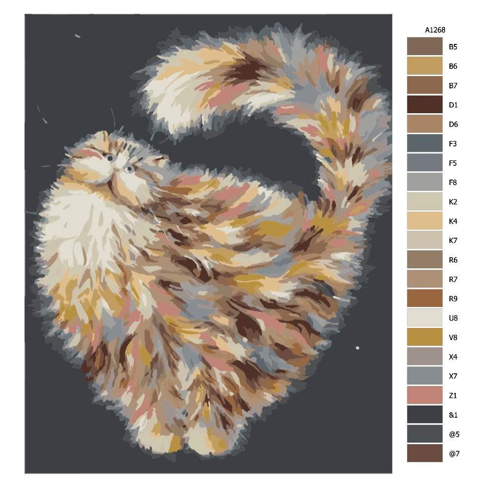 Návod pro malování podle čísel Kočka ve vesmíru