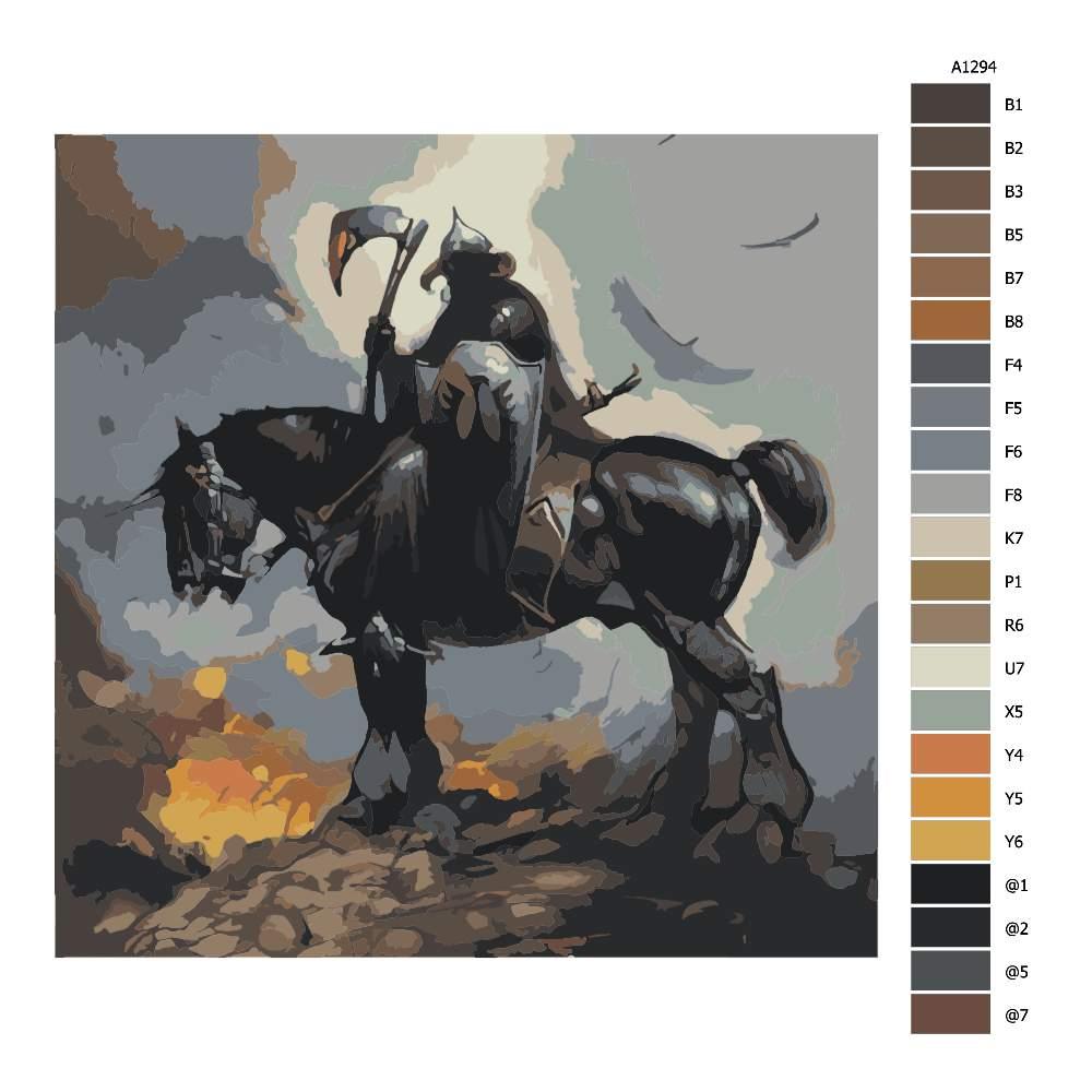 Návod pro malování podle čísel Obchodník se smrtí