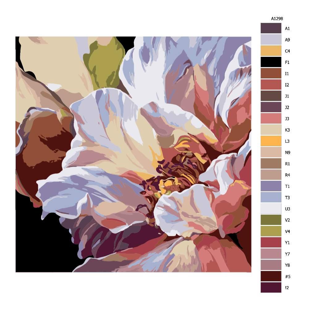 Návod pro malování podle čísel Květ