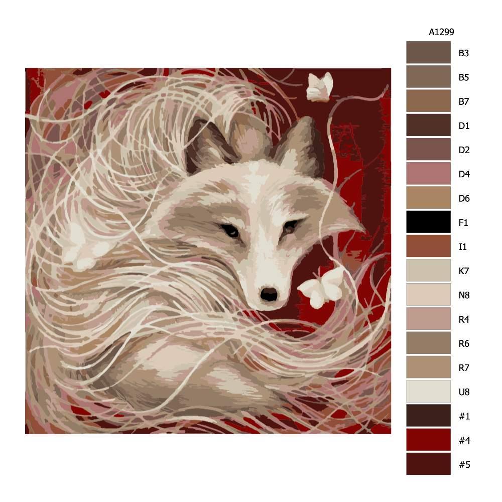Návod pro malování podle čísel Lstivá liška