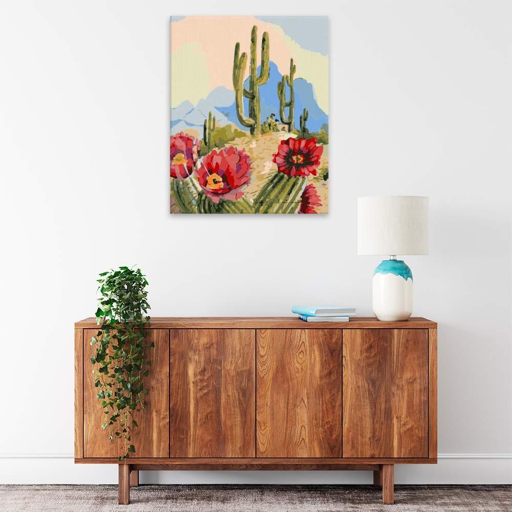 Malování podle čísel Mexický kaktus