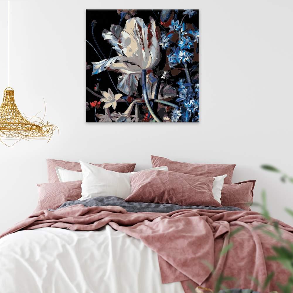 Malování podle čísel Orosený tulipan