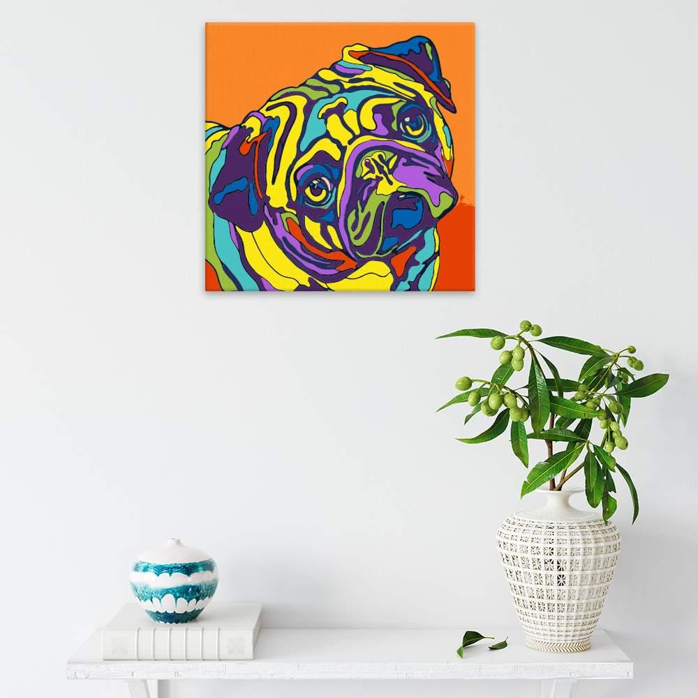 Malování podle čísel Mops v barvách