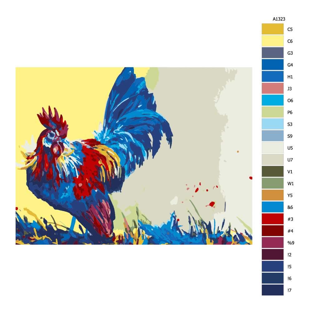 Návod pro malování podle čísel Holandský kohout